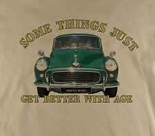 Somethings...Morris Minor 1000 Classic Car Traveller Printed Natural T-Shirt