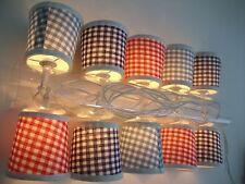 Guirnalda de luces 10 Pantalla Lámpara PUNTITOS VICHY a Cuadros Azul Mercancía B