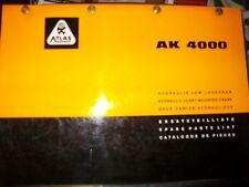 ATLAS Grue camion AK4000 : catalogue de pièces 1971