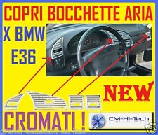 KIT SET CORNICI CROMO CROMATI PER INTERNI TUNING BMW E36 SERIE 3 328 M3 COUPE EC