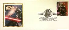 USPS Star Wars Stamp 1st Day Issue Cover Silk Cachet Darth Vader w/ Vader Stamp