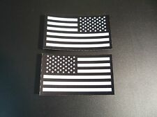 """SET USA  WHITE ON IR MB FLAG solasX PATCH 3.5""""X2"""" WITH VELCRO® BRAND FASTENER"""
