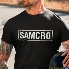 SAMCRO Camiseta S-XXL logo tshirt t-shirt SOA Sons Of Anarchy Biker Serie De Tv