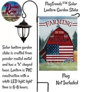 Garden Flag Holder Star, Solar Lantern or Shepherds Hook
