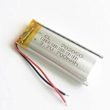 3.7V 700mAh Lipo polymer Li Battery cells for MP3 GPS Camera mobile phone 702050