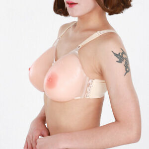 Strap-On Silicone Fake False Breast Full Boobs Mastectomy Forms B C D E F Cup