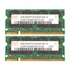 4gb 2x2gb ddr2 pc2-5300 667mhz laptop sodimm ram memory upgrade kit 200-pin
