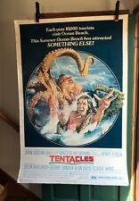 "1977 TENTACLES Rare 40 x 60"" DRIVE IN THEATER ORIGINAL HORROR MOVIE POSTER! JAWS"