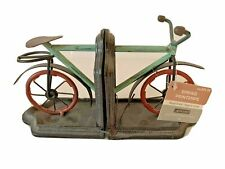 Bicycle Bookends Metal Distressed New w/ tag.