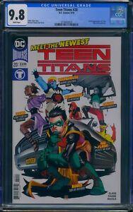 Teen Titans 20 CGC 9.8 1st full appearance of Crush, Djinn & Roundhouse.