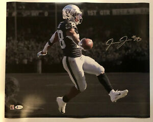 Josh Jacobs Signed Autographed 16x20 Photo Oakland Raiders BECKETT COA 8