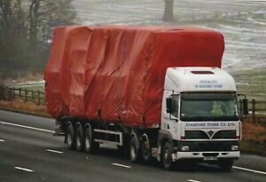 COL PHOTO: STAMFORD STONE CO FODEN ARTIC FLAT TRAILER - Y266 XEW