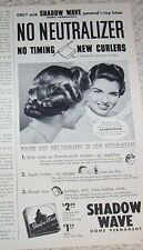 1952 print ad - Shadow Wave home perm hair permanent Lux Vintage ADVERT Clipping