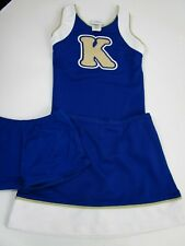 "New Child Fun Cheerleader Uniform Outfit + Briefs 30"" Top 25"" Skirt Lg Letter K"