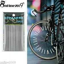 Bicycle Wheel Spoke Reflector Reflective Mount Clip Tube Warning Strip HotHot A