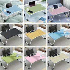 More details for folding laptop table stand bed computer desk bed picnic stand notebook tray home