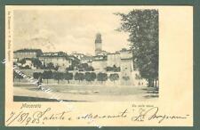 Marche. MACERATA. Via delle mura. Cartolina d'epoca viaggiata.