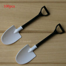 100X Creative shovel Plastic spoon Small Ice Cream Cake Utensils Kitchen
