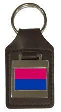 Leather Keyring  Engraved Venlo City Netherlands Flag