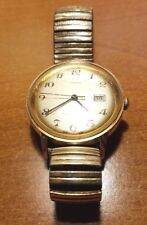 Vintage Rare Timex Gold Tone Self Winding Watch W Speidel Expansion Band