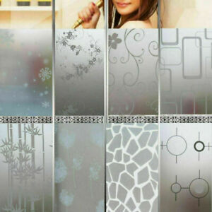 200x50CM Bedroom Bathroom Home Glass Window Privacy Film Sticker PVC Frosted_NEW
