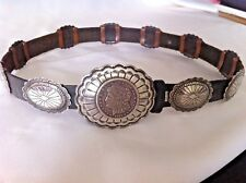 ~ Sterling Silver ~ Vintage 1960's Pawn Make An Offer Silver Dollar Concho Belt