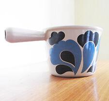caquelon fondue le creuset bleu en fonte design années 70 70's vintage deco