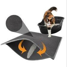 1pcs Waterproof Double-Layer Cat Litter Mat Trapper Foldable Pad Pet Rug black