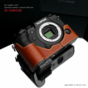 Gariz XS-CHXH1CM Genuine Leather Half Case Fujifilm Fuji XH1 X-H1 Camel Brown