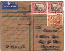 Aden GB 1943 Raf Censure En Rouge Guerre Temps Housse