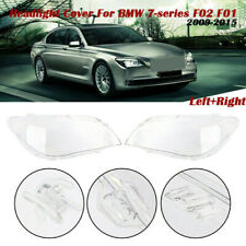 1 Pair Headlight Lens Replacement Cover For BMW 7 Series F01/F02 2009-2015 R+L