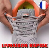 1 paire Lacets Cravate Chaussure Elastiques Ronds Verrouillage Métal Rapide Mode
