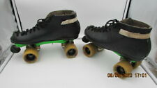 Mens Vintage Roller Skates Black Leather Canada Wicked to the Maxx Wheels 11?