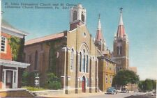 Postcard St Johns Evangelical Church Shenandoah PA