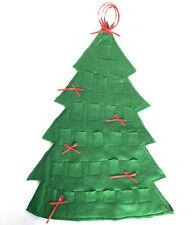 Felt Christmas Tree Advent Calendar Vintage Fabric Handmade Holiday Decor