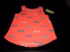 PEANUT & OLLIE GIRL'S 24 MONTH CORAL GLOW TANK TOP~~NEW WITH FREE SHIPPING@@@