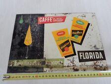 rif3 rara insegna lamiera cartonata originale caffè Florida Trieste sign old