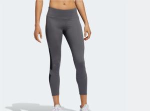 Adidas Women How We Do Tight 7/8 Light Leggings Sports Grey Black Gym Yoga
