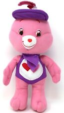 "LOVE A LOT Care Bear Nanco American Greetings 10"" Pink  Plush Stuffed Animal"
