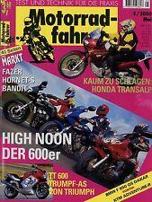 Motorradfahrer 2000 5/00 Buell Blast KTM LC4 640 Triumph TT600 Piaggio X9 F650GS