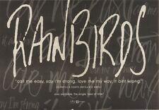 10/6/89Pgn31 Advert: Rainbirds 'call Me Easy, Say I'm Strong' New Album 7x11