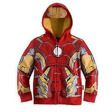 Super Héros Capuche Iron Man veste fermeture éclair garçons enfants avengers