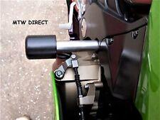 R&G Racing Pair Black CLASSIC Crash Protectors to fit Kawasaki ZX12R CP0155BL