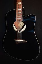 Dean V Wing Dreadnought Cutaway Black Acoustic Electric Guitar - Free Shipping!