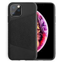 Hülle iPhone 11 Pro Max X Xs Xr Case Premium Leder Silikon Cover Schutzhülle