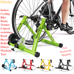 Indoor Cycling Bike Home Trainer 6 Speed resistance Road Bicycle Roller Fitness