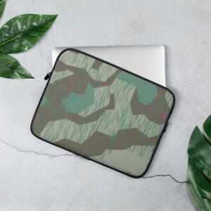 German Splinter Camo Laptop Sleeve, WWII WW2 Wehrmacht Camouflage Reproduction
