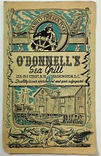 1940's Vintage Dinner Menu O'DONNELL'S SEA GRILL Washington DC Cool Cover Art