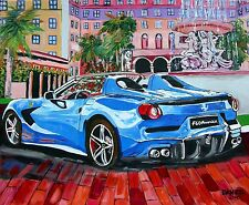 Ferrari Sports Car Original Art PAINTING DAN BYL Modern Contemporary Huge 4x5ft