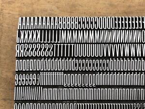 Antique VTG 24pt Art Deco BB&S Slim Line Letterpress Print Type A-Z Letter # Set